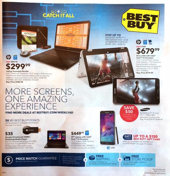 Best Buy weekly ad 3-15-15
