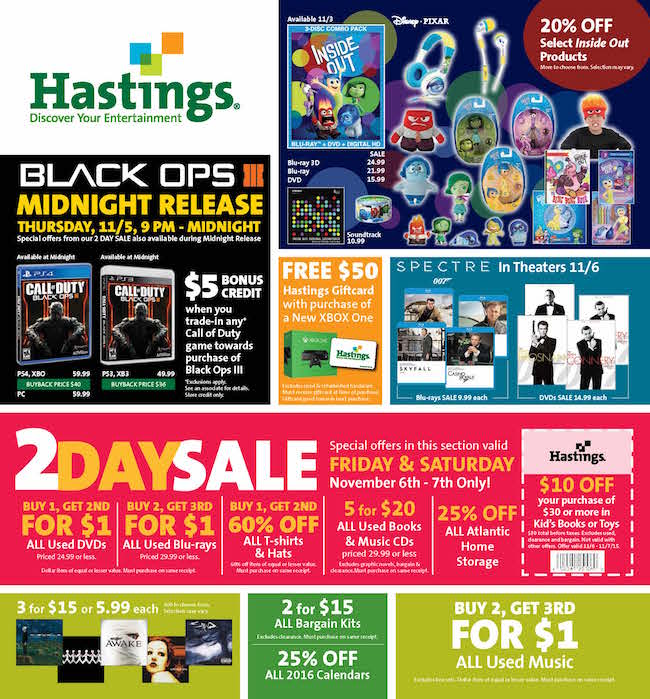 Hastings sales ad