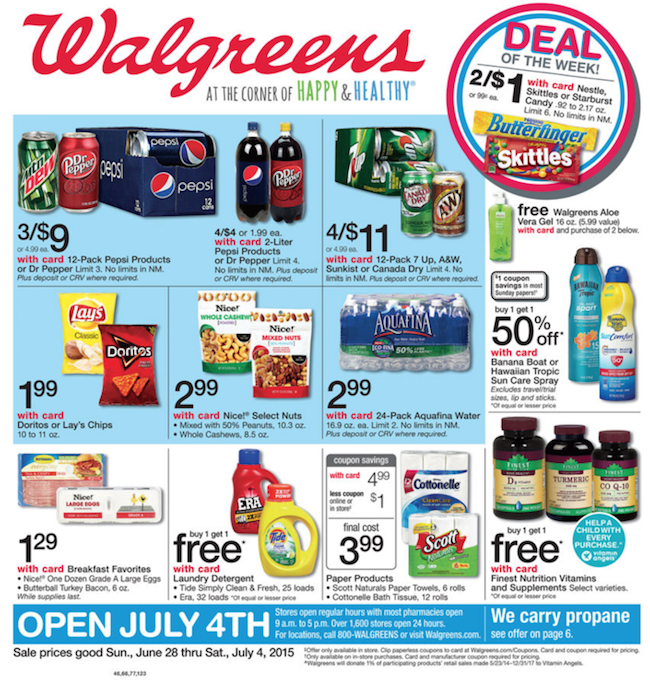 Walgreens 4th Of July Ad Weekly Ads