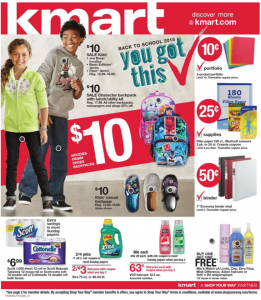 Kmart Back to School Ad 8-9-15