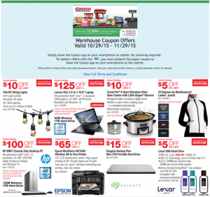 Costco Ad November 2015