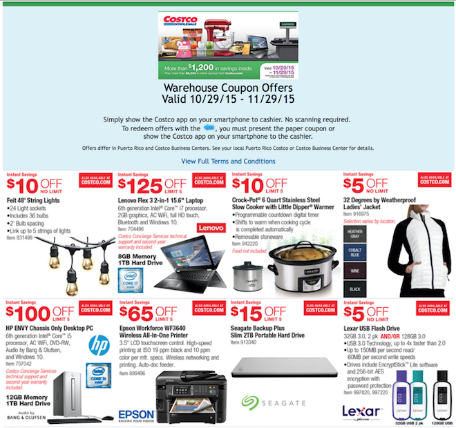 844955a85f Costco Black Friday Deals November 2015 - Weekly Ads