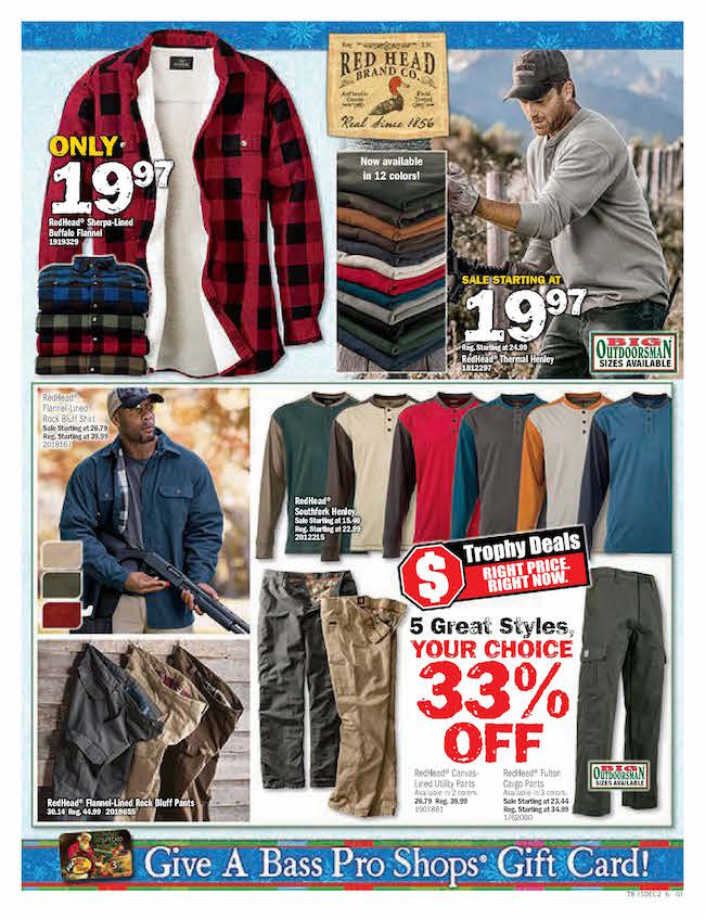 Bass pro ad sales deals weekly ads for Redhead bear creek flannel shirt