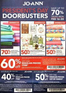 JoAnns Weekly Ad for this Week