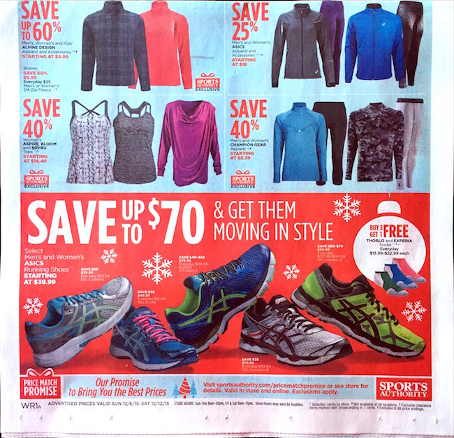 Sports Authority ad circular