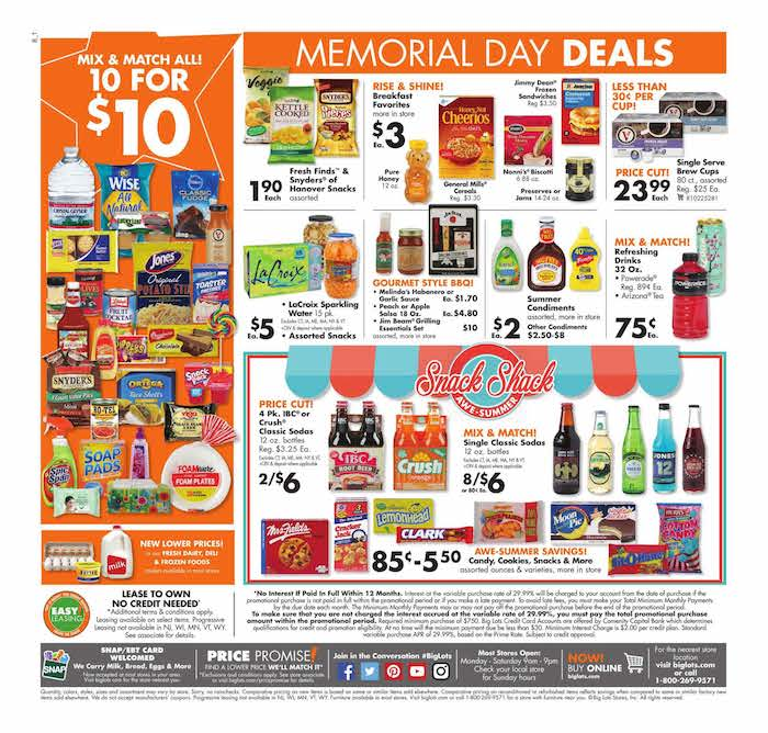 Browse through the current Big Lots Weekly Ad and look ahead with the sneak peek of the Big Lots ad for next week! Use the left and right arrows to navigate through all of the pages of the Big Lots Weekly sales ad.