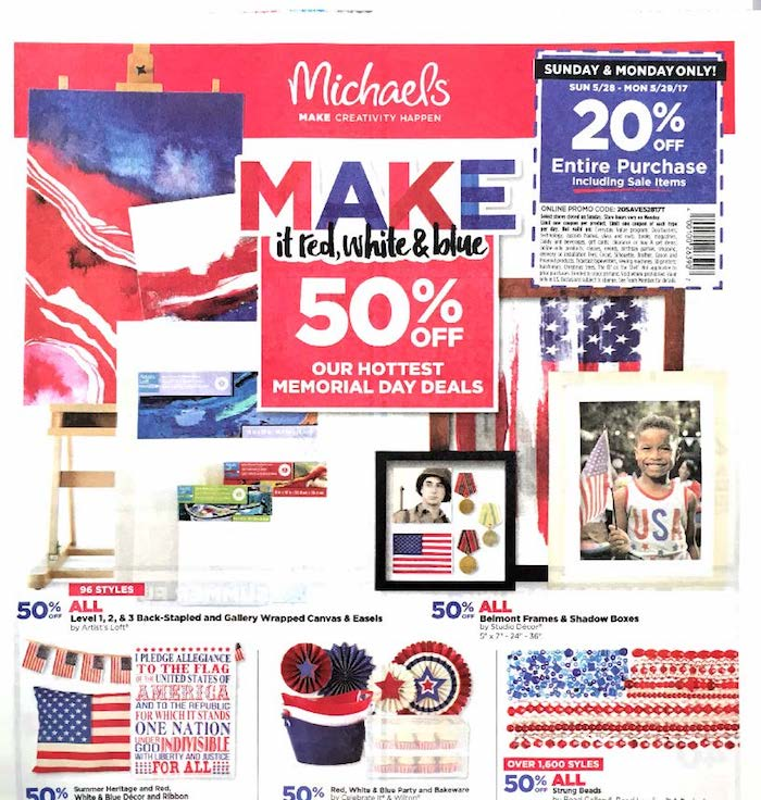 michaels weekly ad craft store savings weekly ads. Black Bedroom Furniture Sets. Home Design Ideas