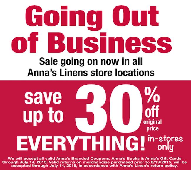 Anna's Linens Ad