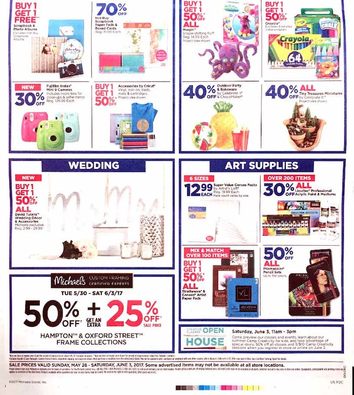 michaels crafts weekly ad weekly ad craft savings weekly ads 4934